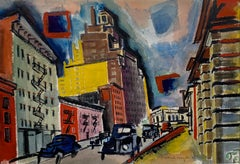 Christopher Street (abstract Greenwich Village cityscape)