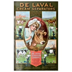 """De Laval"" Tin Advertising Sign, American, circa 1905, Near Mint"