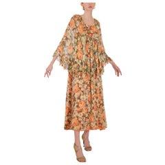 1970s John Charles Floral Dress