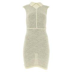 1980s Alaïa Crochet Fitted Dress