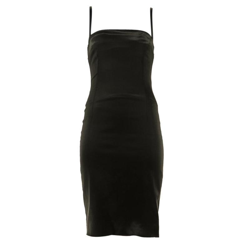 1990s Dolce And Gabbana Black Silk Dress