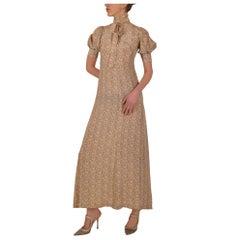 Biba 1970s Puff Sleeved Dress