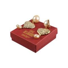 De Liguoro For Rocco Barocco Vintage Hearts Earrings