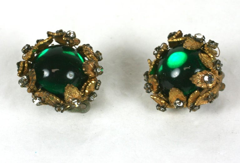Women's De Mario Cabochon and Crystal Earrings For Sale