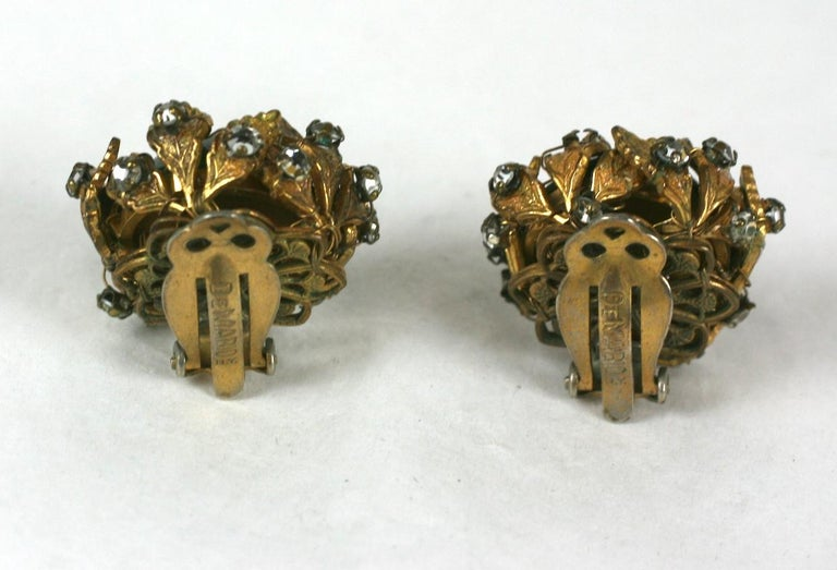 De Mario Cabochon and Crystal Earrings For Sale 1