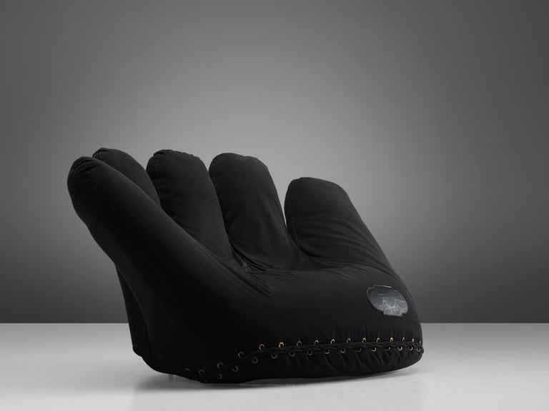 Mid-Century Modern De Pas D'urbino and Lomazzi 'Joe Seat' in Black Fabric For Sale