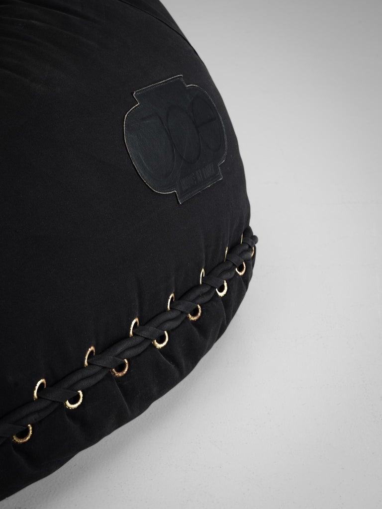 Late 20th Century De Pas D'urbino and Lomazzi 'Joe Seat' in Black Fabric For Sale