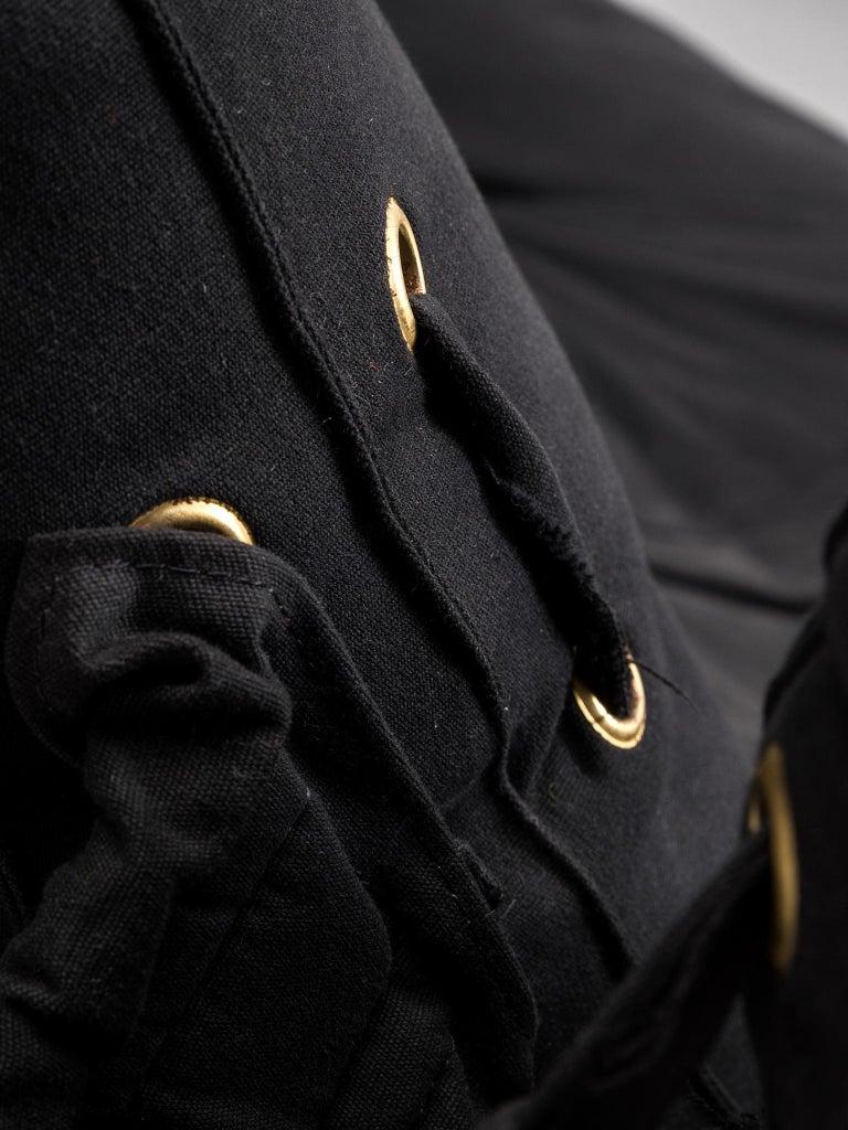 De Pas D'urbino and Lomazzi 'Joe Seat' in Black Fabric For Sale 1