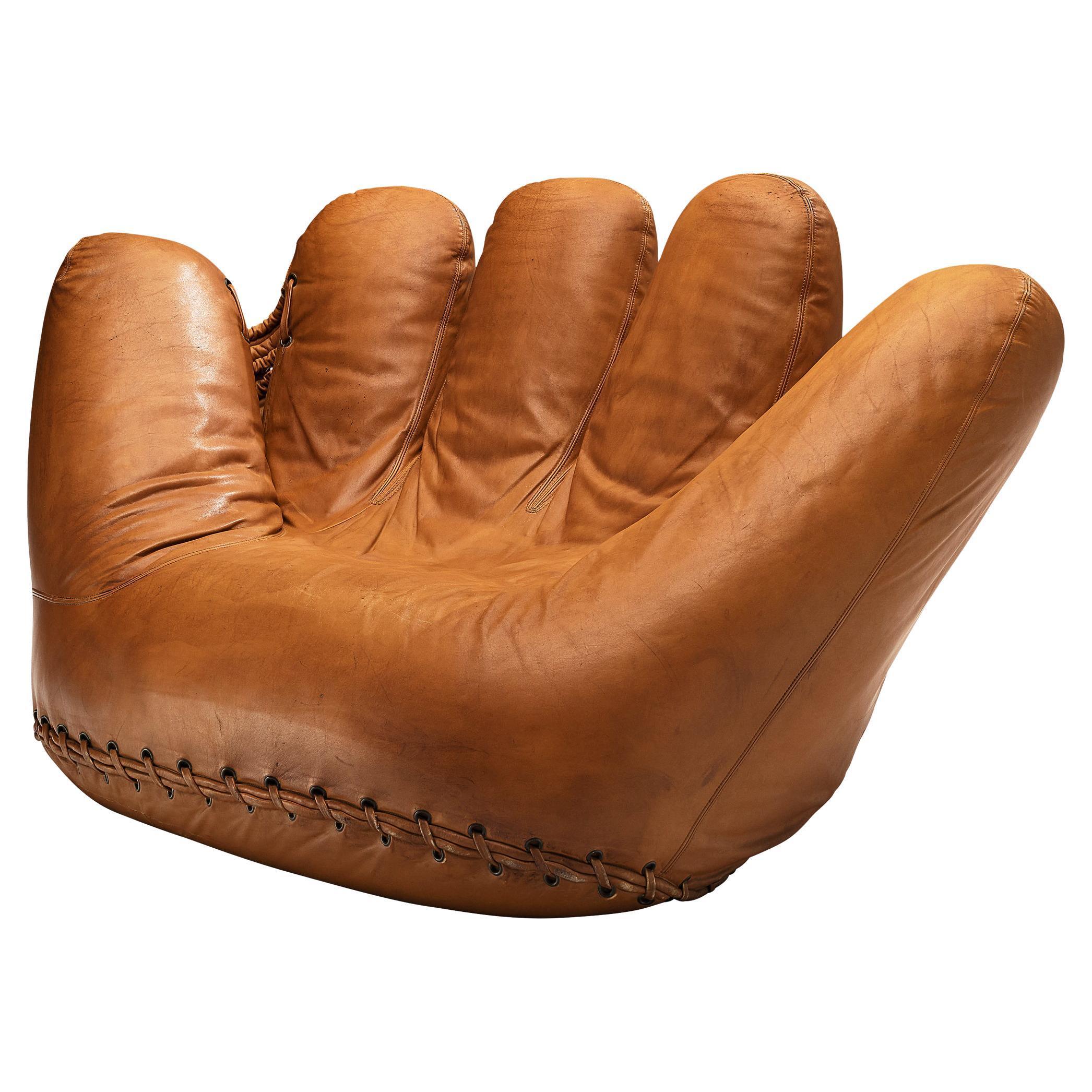 De Pas D'urbino and Lomazzi 'Joe Seat' in Cognac Leather