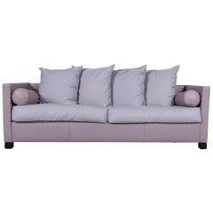 De Sede 300 Edition Designer Leather Fabric Sofa Grey Three-Seat Couch