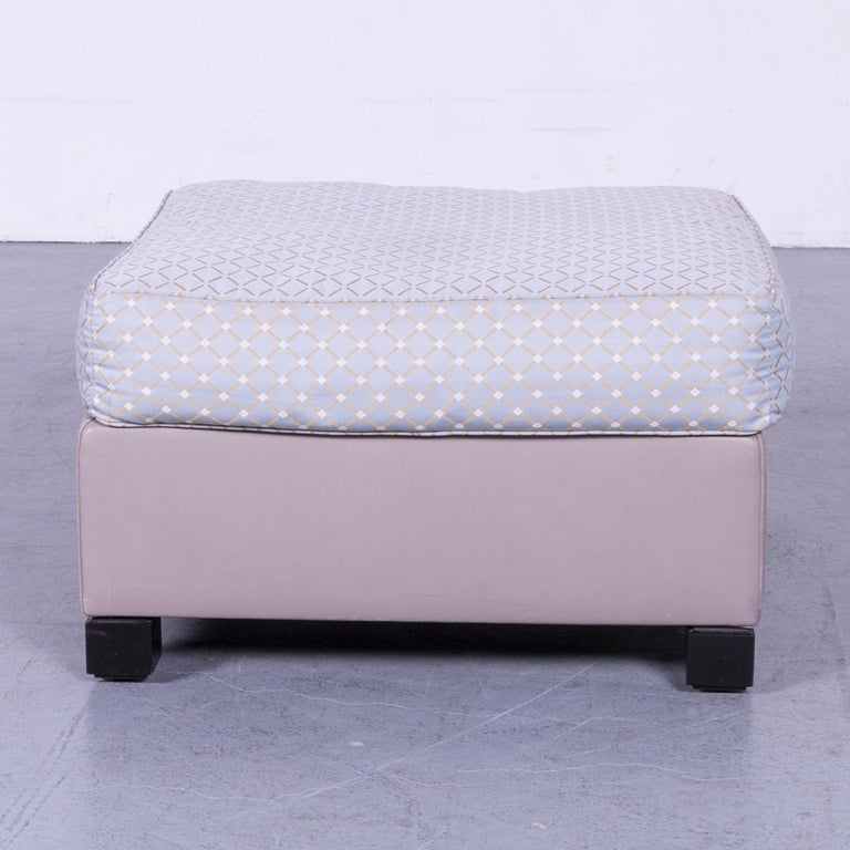 De Sede 3000 Edition Leather Fabric Foot-Stool Grey Bench In Good Condition In Cologne, DE