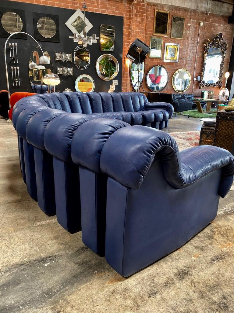 Swiss De Sede 600 Non Stop Blue 22 Element Sofa, 1970s For Sale