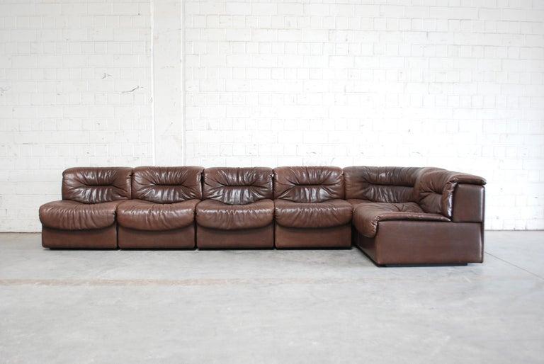 Superb De Sede 6X Modul Vintage Leather Sofa Brown Download Free Architecture Designs Scobabritishbridgeorg