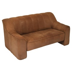De Sede Aged Buffalo Leather DS-44 Adjustable Loveseat Sofa, 1970s