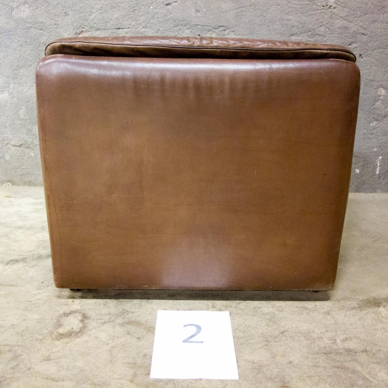 De Sede Armchairs Model DS66, Brown Leather, Switzerland, Swiss Made, 1970s For Sale 1