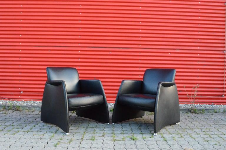 De Sede Black Leather Armchair For Sale 4