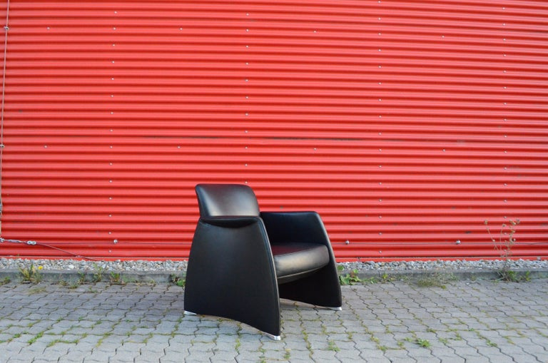 De Sede Black Leather Armchair In Good Condition For Sale In Munich, Bavaria