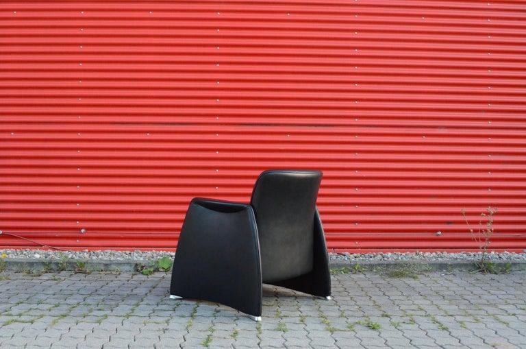 De Sede Black Leather Armchair For Sale 1
