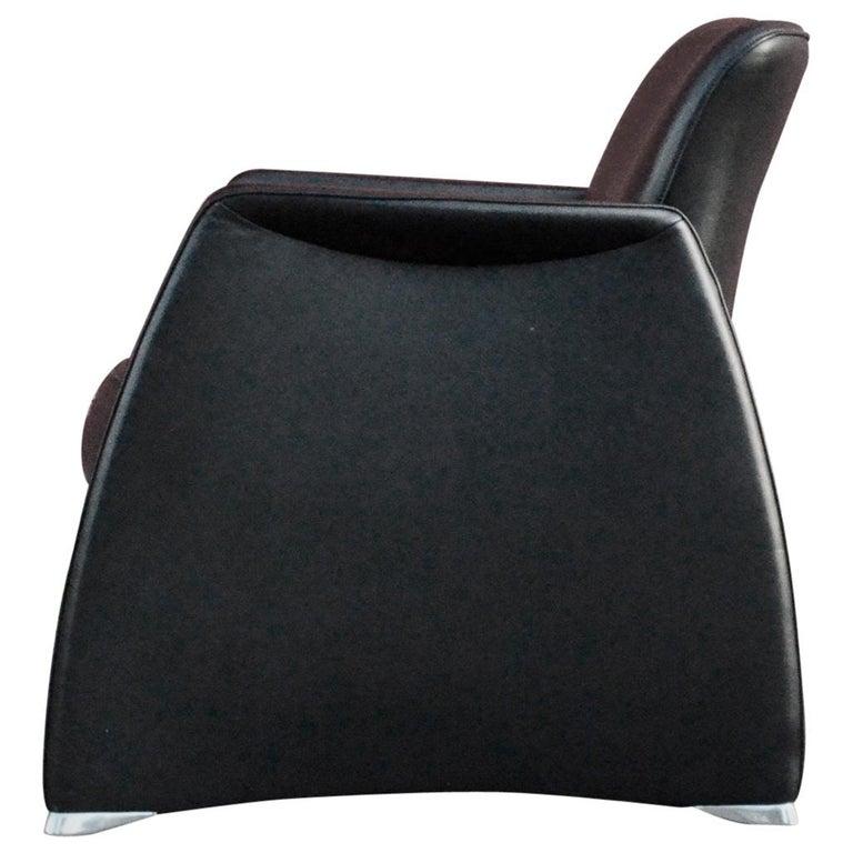 De Sede Black Leather Armchair For Sale