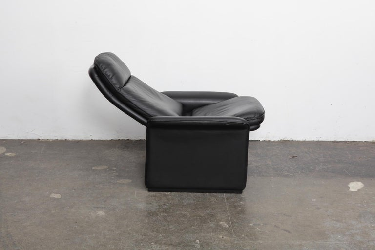 Late 20th Century De Sede Black Leather Reclining DS50 Lounge Chair, Switzerland, 1970s For Sale
