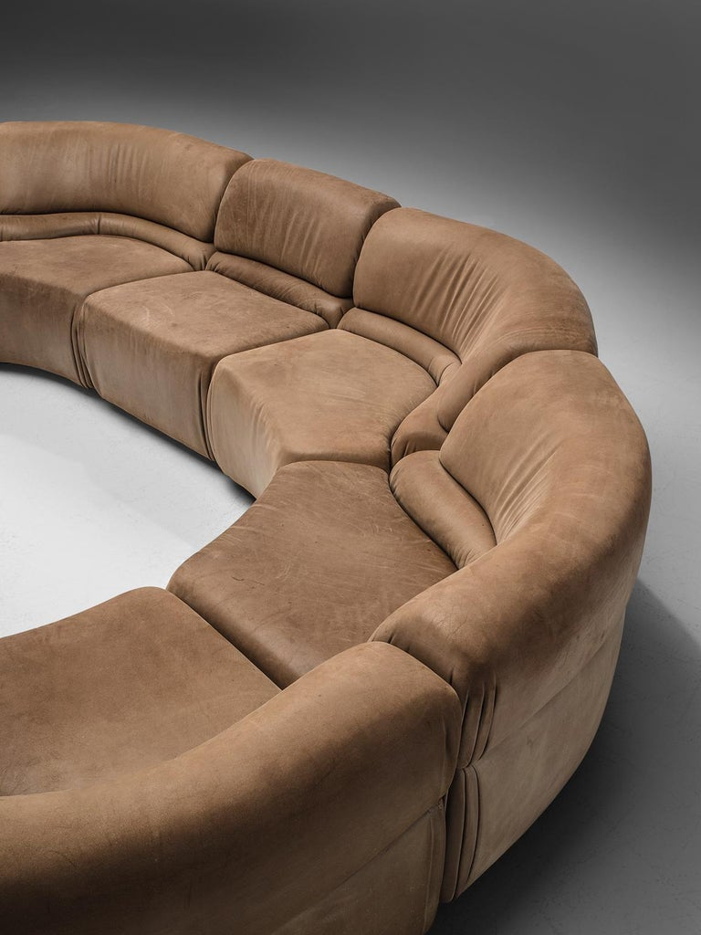 Late 20th Century De Sede Brown 'Cosmos' in Original Leather, 1970s For Sale