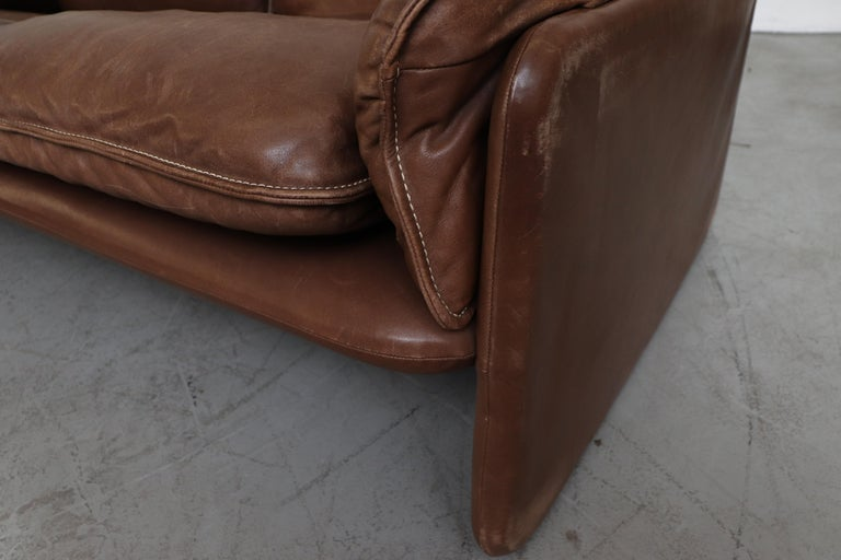 De Sede Brown DS 61 Leather Loveseat Sofa For Sale 8