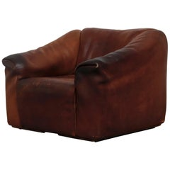 De Sede Brown Leather DS47 Lounge Chair