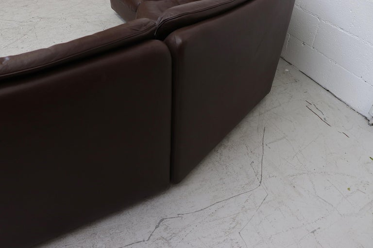 De Sede Chocolate Leather Sectional Sofa For Sale 4