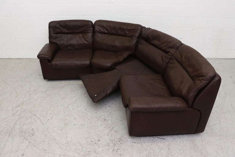 De Sede Chocolate Leather Sectional Sofa For Sale 5
