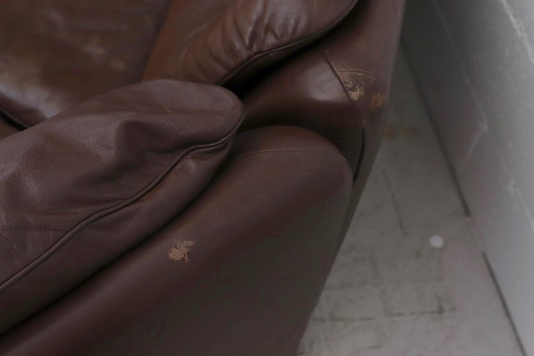 De Sede Chocolate Leather Sectional Sofa For Sale 1