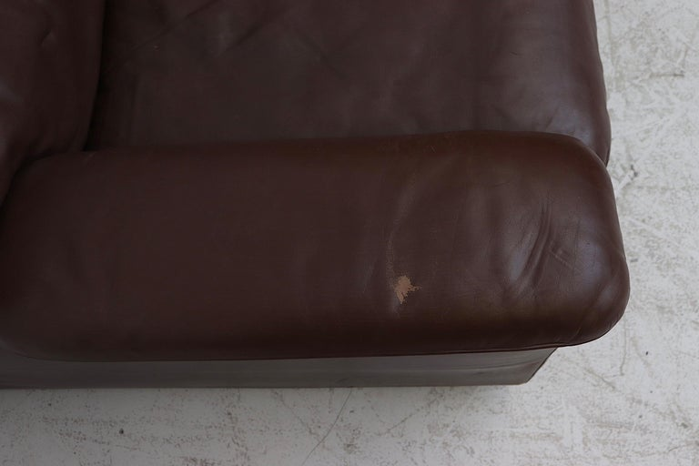 De Sede Chocolate Leather Sectional Sofa For Sale 2