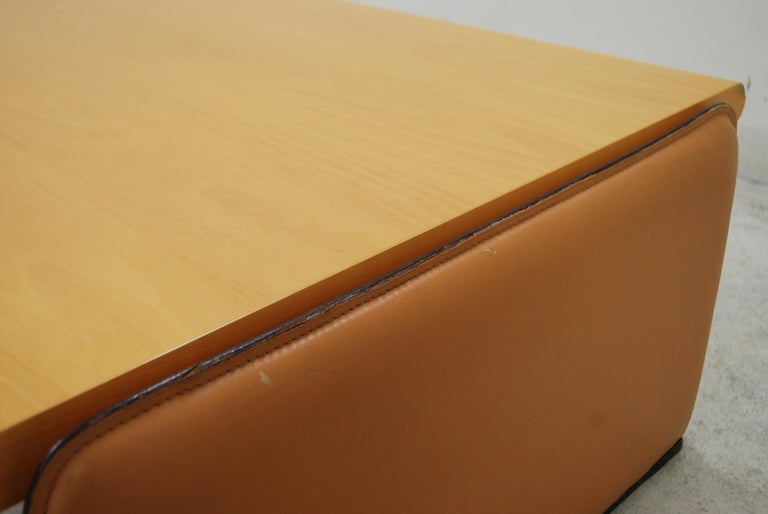 De Sede Coffee Table Cherrywood and Cognac Leather In Good Condition For Sale In Munich, Bavaria