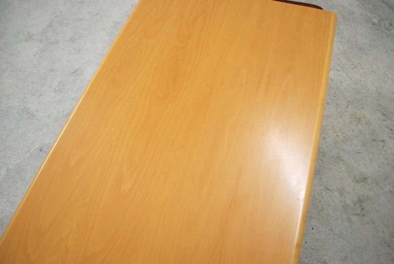 De Sede Coffee Table Cherrywood and Cognac Leather For Sale 3