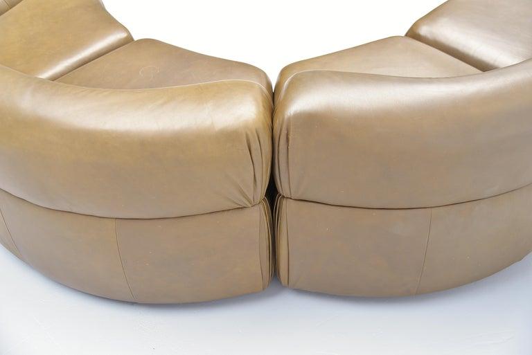 De Sede Cosmos Lounge Sofa Switzerland 1970 Olive Green 3