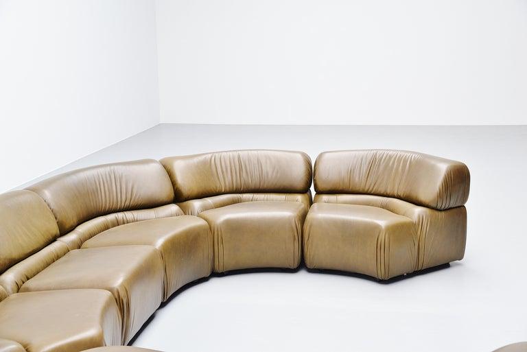 De Sede Cosmos Lounge Sofa Switzerland 1970 Olive Green 4