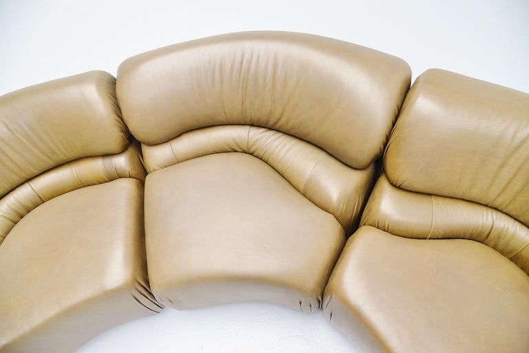 De Sede Cosmos Lounge Sofa Switzerland 1970 Olive Green 5