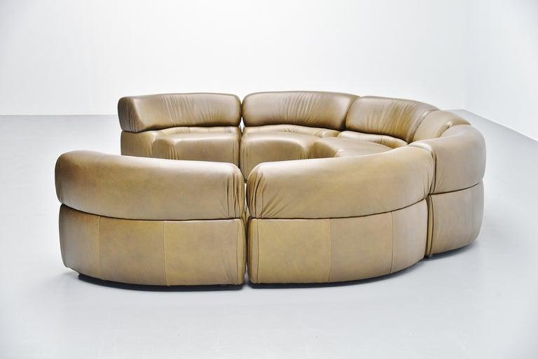 De Sede Cosmos Lounge Sofa Switzerland 1970 Olive Green 2