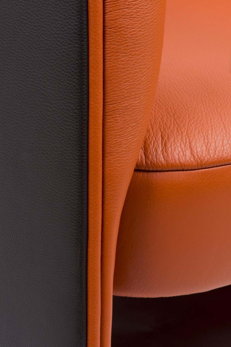 De Sede Customizable Leather Rocking Chair In New Condition For Sale In New York, NY