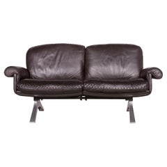 De Sede Designer Ds 31 Designer Leather Sofa Brown Two-Seat Couch