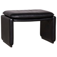 De Sede Designer DS 50 Leather Footstool Black Modern