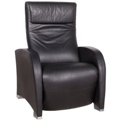 De Sede Designer Leather Armchair Black Genuine Leather
