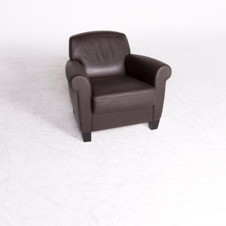 We bring to you a De Sede designer leather armchair set Brown genuine leather chair.  Product measurements in centimeters:  Depth 88 Width 87 Height 78 Seat-height 45 Rest-height 62 Seat-depth 54 Seat-width 52 Back-height 36.