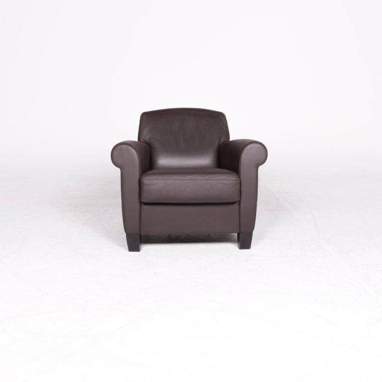 Modern De Sede Designer Leather Armchair Set Brown Genuine Leather Chair