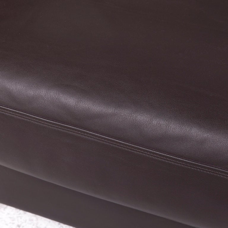De Sede Designer Leather Armchair Set Brown Genuine Leather Chair In Good Condition In Cologne, DE