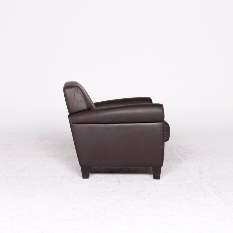 De Sede Designer Leather Armchair Set Brown Genuine Leather Chair 1