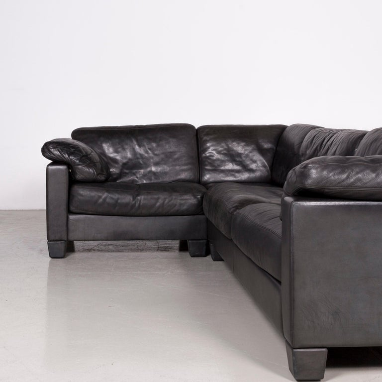 Enjoyable De Sede Designer Leather Corner Sofa Black Genuine Leather Sofa Couch Caraccident5 Cool Chair Designs And Ideas Caraccident5Info