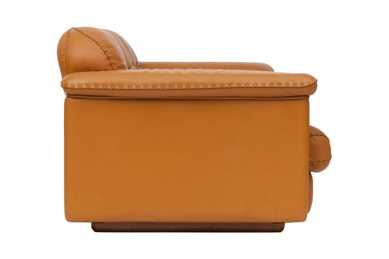 De Sede Ds 101 Brutalist Brown Leather Adjustable Sofa For Sale 5