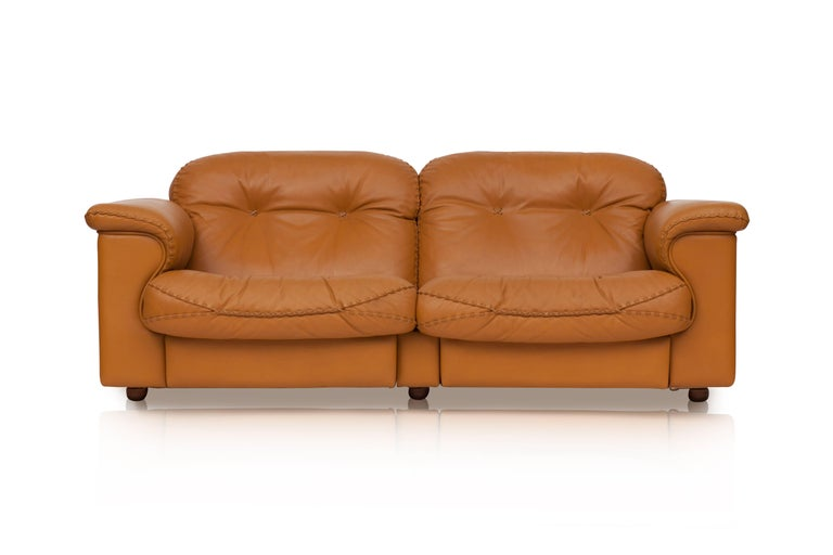 De Sede Ds 101 Brutalist Brown Leather Adjustable Sofa In Good Condition For Sale In Antwerp, BE