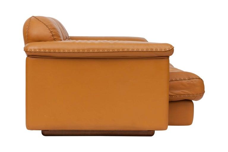 De Sede Ds 101 Brutalist Brown Leather Adjustable Sofa For Sale 4
