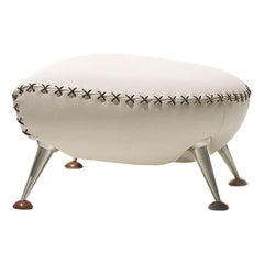 De Sede Ds-102 Ottoman in Snow Upholstery by Mathias Hoffmann